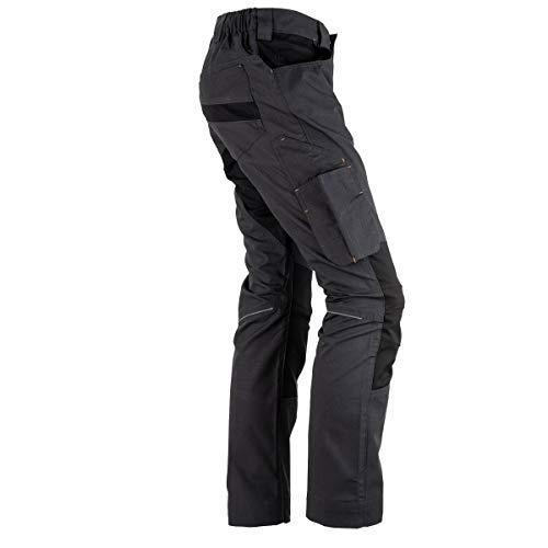 FORSBERG Braxa Arbeitshose mit elastischen Stretchzonen, robuste Bundhose mit Cordura® Stretch, Farbe:anthrazit/schwarz, Größe:50