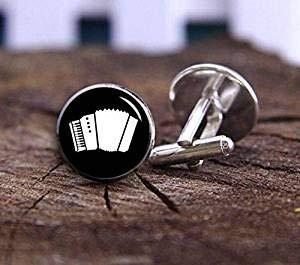 Gemelos de acordeón, instrumentos musicales, accesorios de músicos, gemelos, gemelos de boda,...