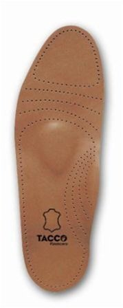 Tacco Men's Full Length Deluxe Leather Orthotic Insole - Size 9 Tan