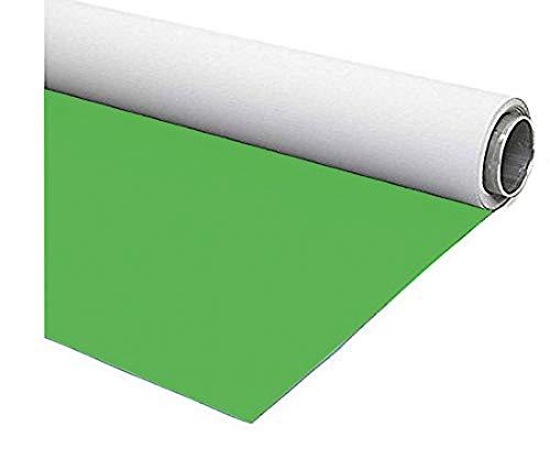 Fondart - Fondale per Fotografia e Video, Sfondo Fotografico Professionale Reversibile, Verde - Bianco, 150 x 305 cm