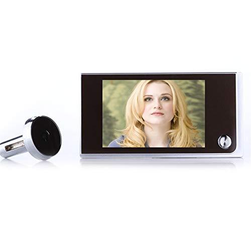 Sbeautli Multifunción de 3,5 Pulgadas de la cámara 720P LCD Digital en Color TFT Memoria Peephole de la Puerta del Timbre del Espectador de Seguridad Fácil Instalación