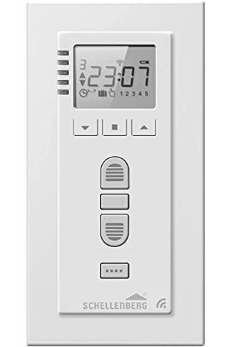 Schellenberg 20032 Smart Home Funk-Zeitschaltuhr Premium, 5 Kanal, Steuerung für Rolläden, Licht, Steckdosen und Markisen