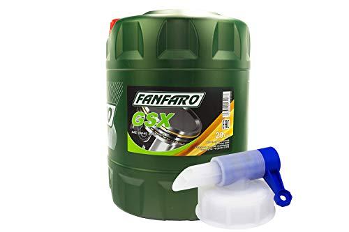 Motoröl FANFARO GSX 15W-40 API SG CD 20 Liter inkl. Auslasshahn