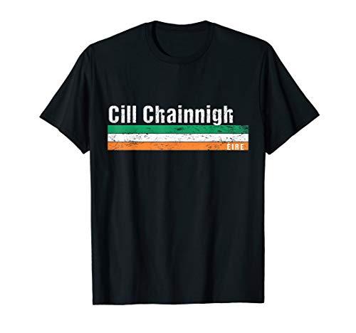 Kilkenny Cill Chainnigh Retro gaeilge Eire Ireland flag T-Shirt