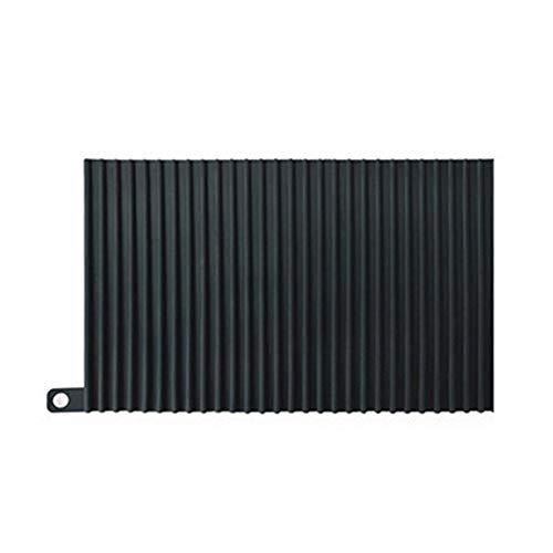 lossomly – Esterilla de secado de silicona con un limpiador de silicona multifuncional para la superficie de trabajo, posavasos resistentes al calor, escurridor de la esterilla móvil Negro