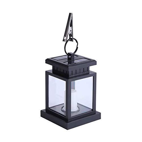 Braceletlxy Solar Candle Lantern, Hanging Outdoor Decorative LED Flickering Flame, Christmas Decoration and Party Garden Yard Lamp LED Hanging Light