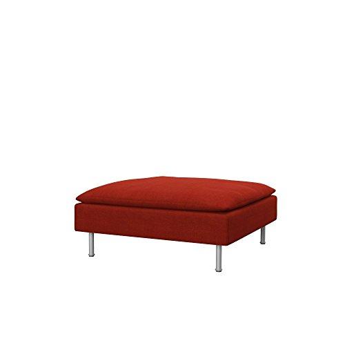 Soferia Funda de Repuesto para IKEA SÖDERHAMN reposapiés, Tela Elegance Dark Orange, Gris