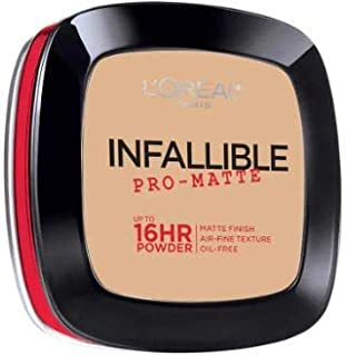 L'OREAL Infallible Pro-Matte Powder Natural Beige 30g -Our 1st 16H mattifying Powder Foundation Inspired by Japanese Two-Way Cake which Provides high Coverage