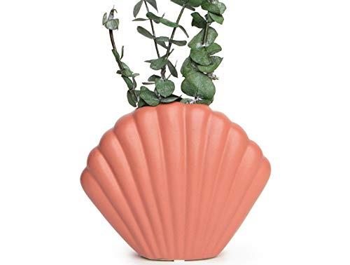 Jarrón decorativo de cerámica esmaltada, estético, moderno, bohemio, ideal como florero de cerámica, decoración de la granja, decoración de la cocina, decoración de estantes (7 pulgadas) - EshnaDesign