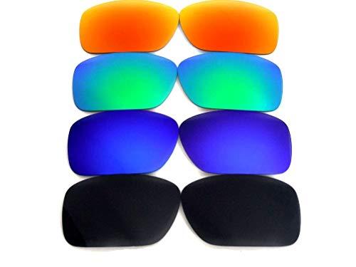 Lentes de repuesto para gafas de sol Oakley Big Taco, polarizadas, color negro, azul, verde y rojo, 100% UVAB