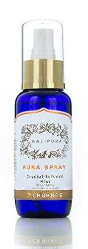 BALIPURA 7 Chakras Aura Spray para Alineación de Chakras y Limpieza Energética. Hecho en Bali con Aceites Esenciales y Cristales Sanadores - 100ml