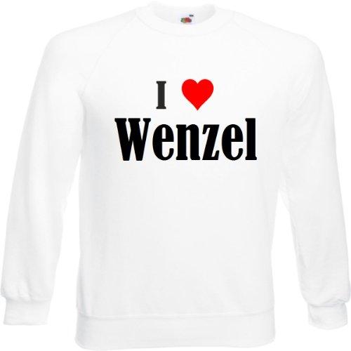 Reifen-Markt Sweatshirt I Love Wenzel Größe 2XL Farbe Weiss Druck Schwarz