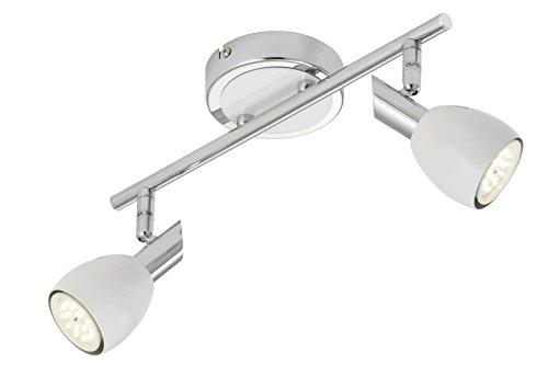 Briloner Leuchten, 2908-026, led-plafondlamp, spots, woonkamerlamp, draaibaar, metaal, GU10, 5 W, chroom