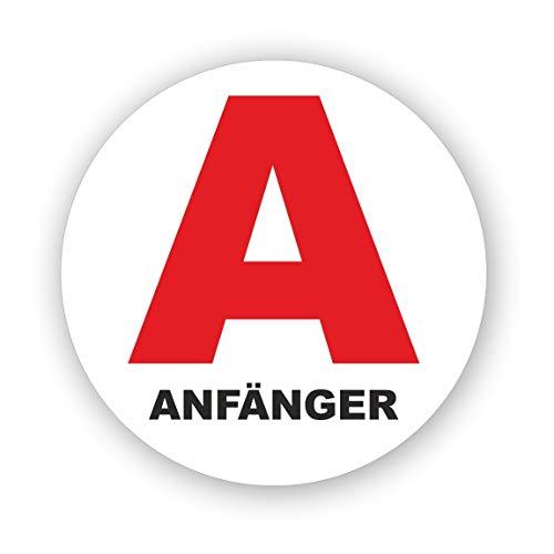 Anfänger Fahrzeug-Magnet rotes A Symbol I 15 cm Rund I Fahranfänger Kennzeichnung A-Plakette International I Kfz_620