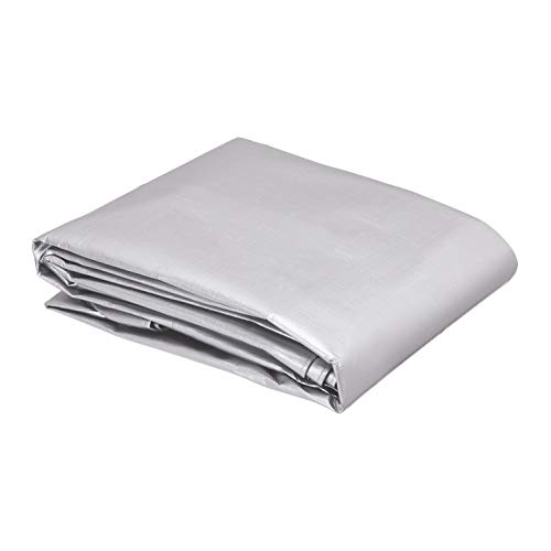 AmazonCommercial Multi Purpose Waterproof Poly Tarp Cover, 10 X 10 FT, 16MIL Thick, Silver/Black, 2-Pack
