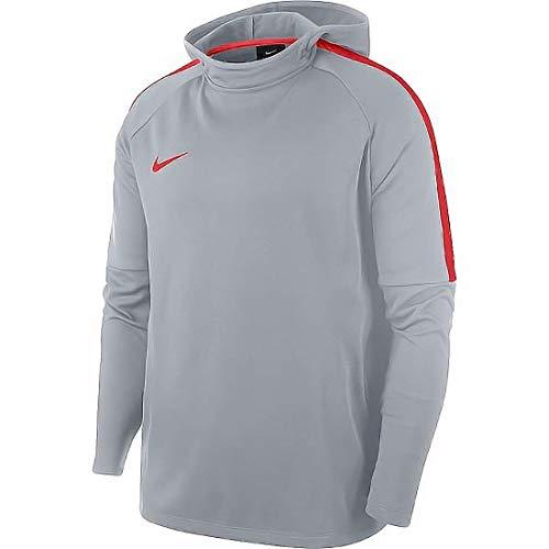 Nike Herren Hoodie Dry Academy, Wolf Grey/Light Crimson, M, 926458-012
