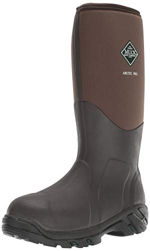 Muck Arctic Pro Tall Rubber Insulated Extreme Conditions Men's Hunting Boots, Bark, 12 M US