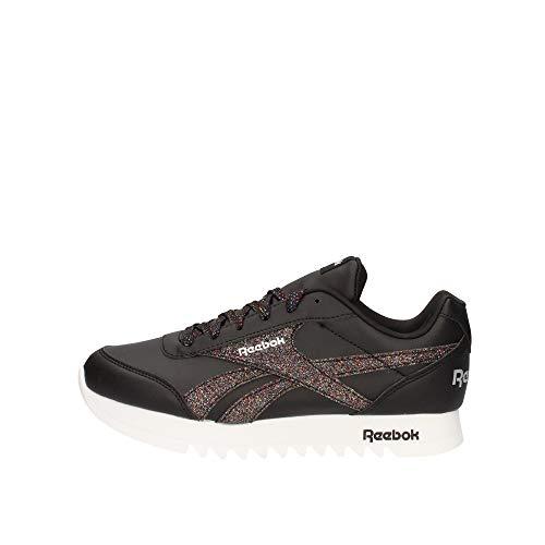 Reebok Royal CLJOG 2 Platform, Zapatillas de Running Mujer, Negro/Blanco/Plamet, 38 EU