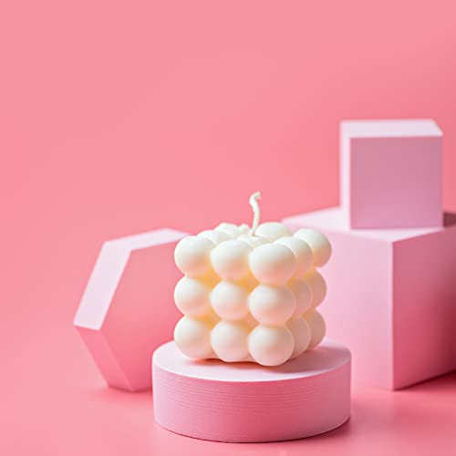 ABOUND LIFESTYLE Bubble Candle - Cube Scented Candle - Handmade Aesthetic Candle - Cloud Shaped Small Relaxing Candle Gifts for Women - Rose, Citrus, Vanilla Candle, Lavender Candle - Velas Aromaticas