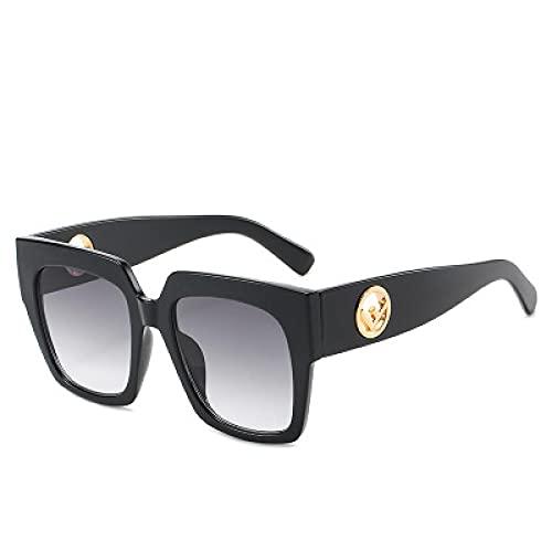 Gafas De Sol Gafas De Sol Cuadradas De Lujo A La Moda para Mujer, Hombre, Vintage, Retro, De Gran Tamaño, para Mujer, Gafas De Sol para Mujer, Gradiente Uv400