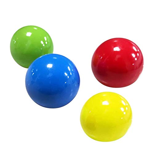 Ahagut Globbles Sticky Balls, 4 Piezas Target Anti Stress Reliever Balls Juguetes para aliviar el estrés y Mejorar el Enfoque, Adultos niños