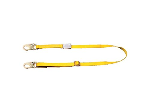 MSA Safety 10115795Workman zurueckhaltung Lanyard, cinghia, Acciaio moschettone a vite moschettone, fissa, 1,5m