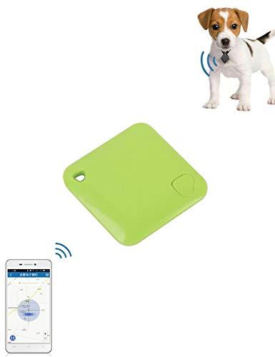 Bestgift - Rastreador GPS para perro y gato, Android IOS con tarjetero, GPS en tiempo real, 40 x 45 x 7 mm, color verde