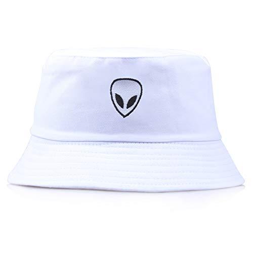 Lazz1on Sombrero de Pescador Alien Unisex Sombrero de ala Ancha Borde Redondo Gorro para...