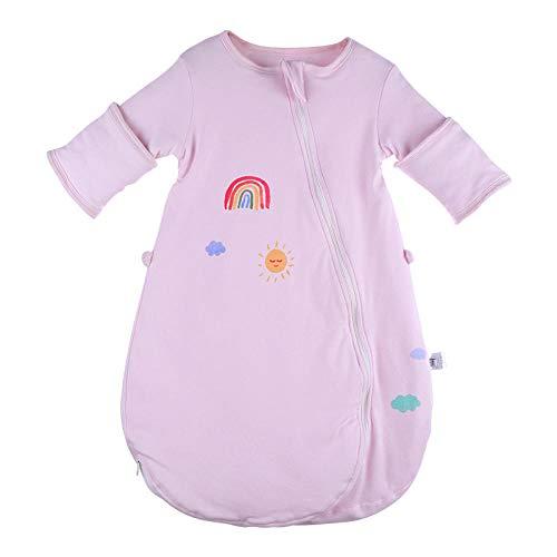 QFYD FDEYL Saco de Dormir con Pies para Bebé,Saco de Dormir Acolchado para niños-Rainbow_80 Yardas, Piernas separadas Invierno Saco Antideslizante