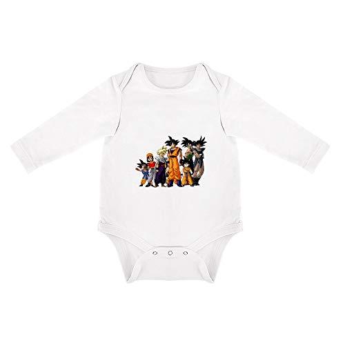 QHDS Triangular Baby Jumpsuit Dragonball Z Ropa de Algodón Pelele White-style1 24months