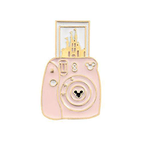 Yeptop Cartoon Leuke Camera Kasteel Vorm Legering Broche Lichtgewicht Kleding Pin Badge Emaille Lapel Jurken Hoed Sjaal Decor Accessoire