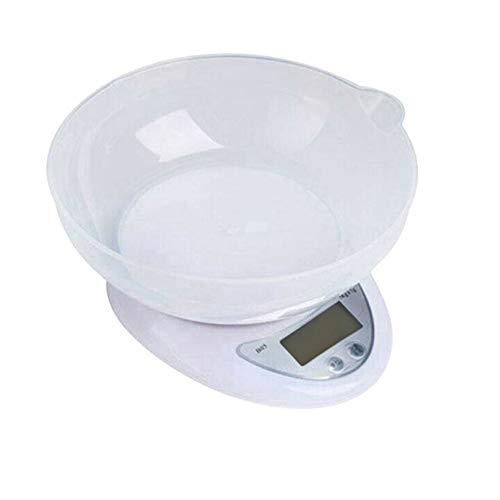 pzcvo Balanza De Cocina Bascula De Cocina Nutrición Escala Digital de Cocina Escala de Digital básculas de Cocina Escala de precisión 5kg 1g B