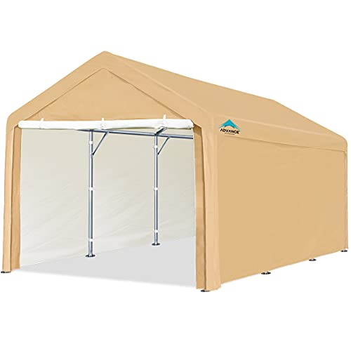 ADVANCE OUTDOOR 10x20 ft Heavy Duty Carport Car Canopy Garage Shelter Boat Party Tent Shed with...