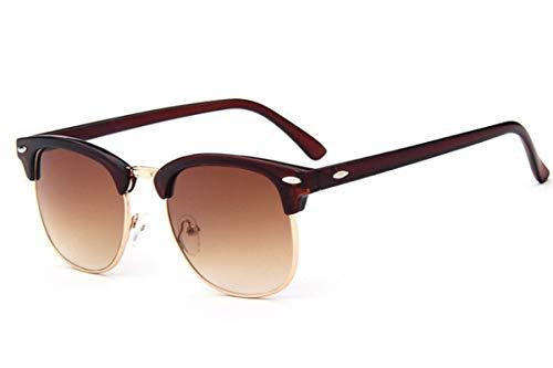 Secuos Gafas De Sol De Moda para Hombre Y Mujer, Remache Retro, Lente Polaroid, Diseño De Marca, Gafas De Sol para Mujer, Gafas Uv400 C3