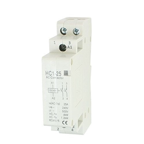 SODIAL(R) Contactor de CA AC240V 25A 2 Cana 2P Domestico Cerrado CA...
