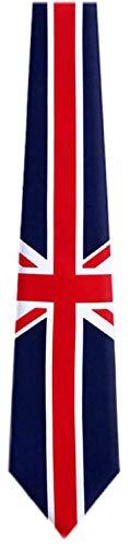 BUYYOURTIES FLAG-313-UK Union Jack Neuheit Krawatte - Blau - Rot - Weiß