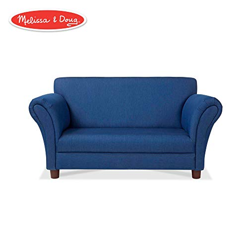 "Melissa & Doug Child's Sofa (Blue Denim Children's Furniture, 35.4"" H x 20.5"" W x 18.3"" L)"