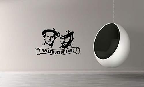 myrockshirt Wandtattoo Bud Spencer Weltkulturerbe 60cm Aufkleber für Auto,Lack,Scheibe&Wand, Autoaufkleber Decal Sticker Profi-Qualität