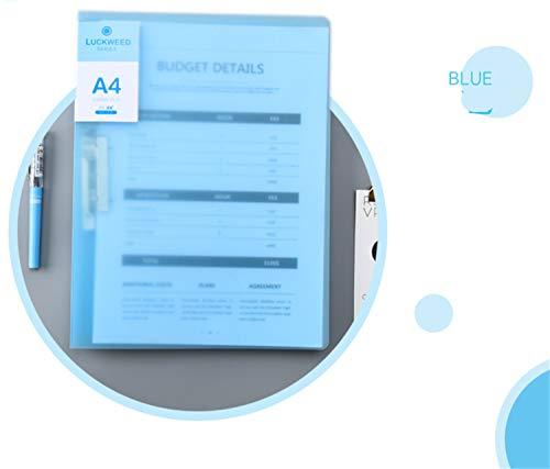 Cartella in polipropilene, fino a 140 fogli, 16 mm, formato A4, per scuola, lavoro, studio, ufficio, 10 confezioni Blue