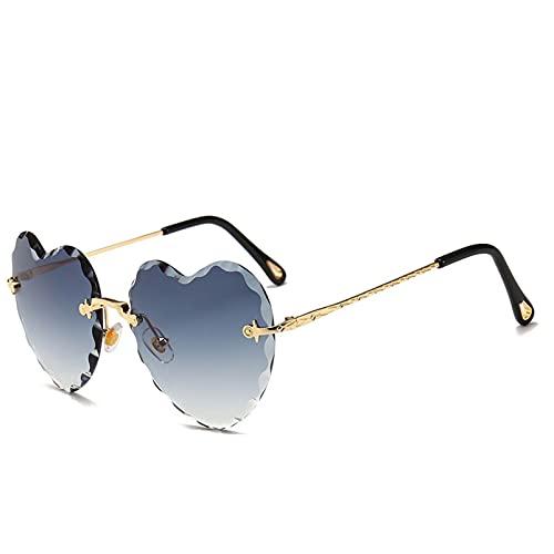 AMFG Gafas de sol de la moda de la moda de la moda del amor sin mariposas Gafas de sol de las gafas de sol del lado brillante (Color : F, Size : M)