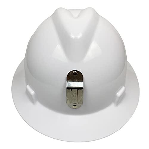 JSJJAEY Casco Sitio de construcción Casco Masculino Minero con Soporte de la lámpara de minero Big Brim Construction Anti-Smashing Sundial Casco de Seguridad