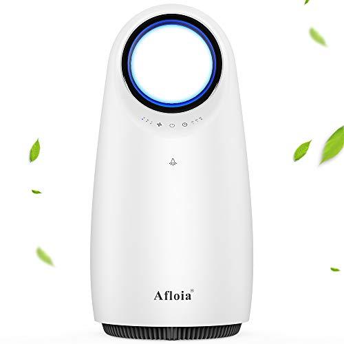 Afloia HEPA Luftreiniger, fortschrittlicher 360° Filtration, 3-Lüfterdrehzahl 2/4 / 8H Timer Whisper Leiser Luftfilter für Staubpollenrauch Haushaltsgerüche Schimmel