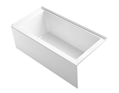 "KOHLER 1956-RA-0 Underscore(R) 60"" x 30"" Bath Apron, Integral Flange and Right-Hand Drain Alcove Bathtub, White"