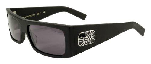Black Flys Fly Detector Sunglasses, Matte Black with Smoke Lenses