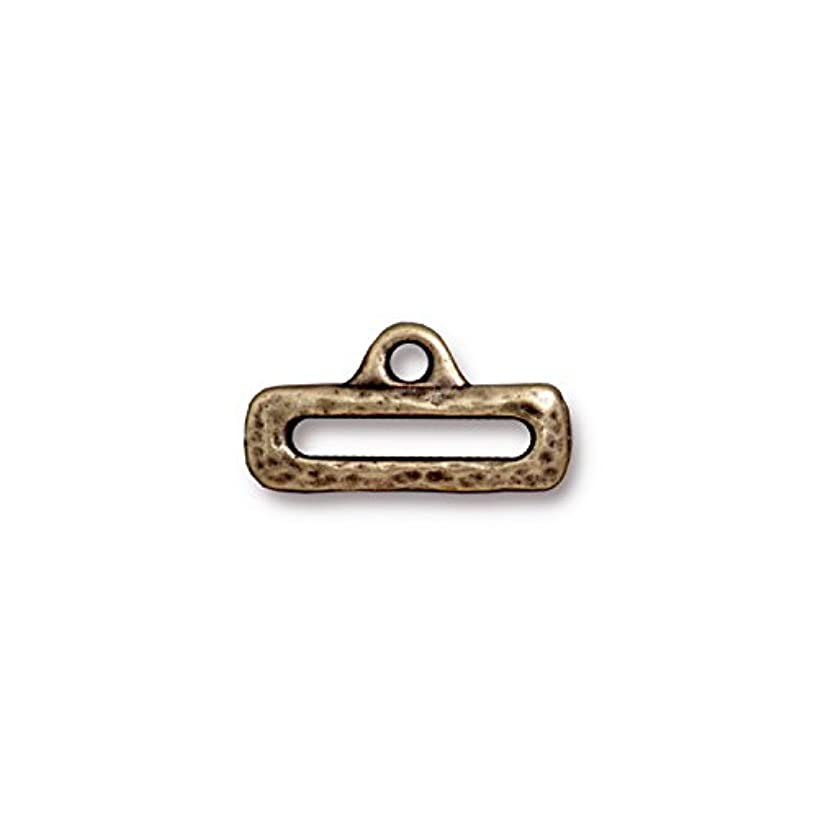 TierraCast Slide Link, 10x19mm/12mm, Antiqued Brass Oxide Finish Pewter, 4-Pack