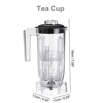 DyNamic Commercieel Blender Cup Onderdeel 1.5L Container Tea Cream Foam Smoothies - B