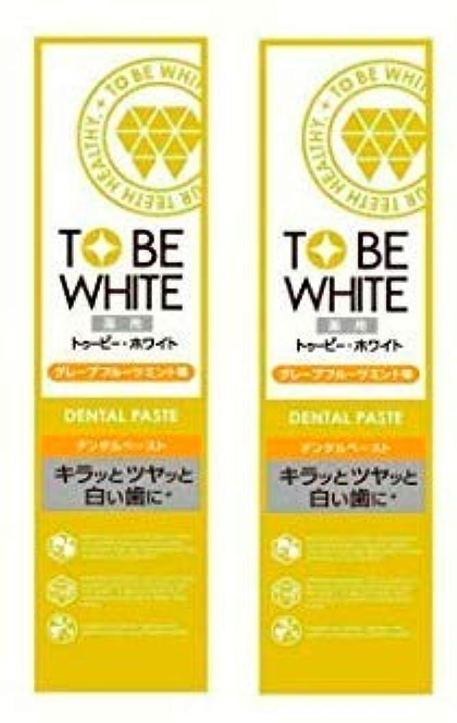 雰囲気保持吸い込む【お買い得】トゥービー?ホワイト 薬用 ホワイトニング ハミガキ粉 グレープフルーツミント 味 60g×2個セット