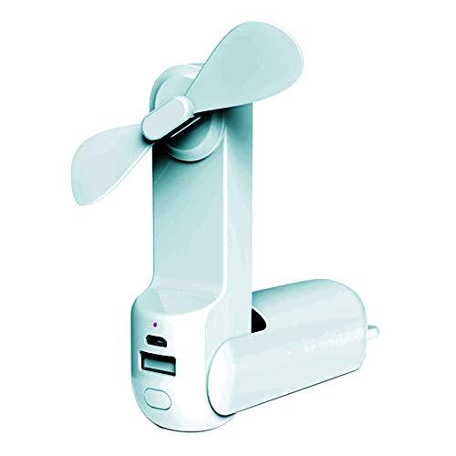 Clenp Mini Ventilador, Ventilador De Enfriamiento Ligero Plegable Recargable del Verano De La Luz LED del PDA Mini USB Portátil Azul Talla única