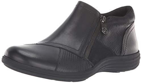 Aravon Women's Beaumont Patch Boot Ankle, Black/Multi, 8.5 Narrow