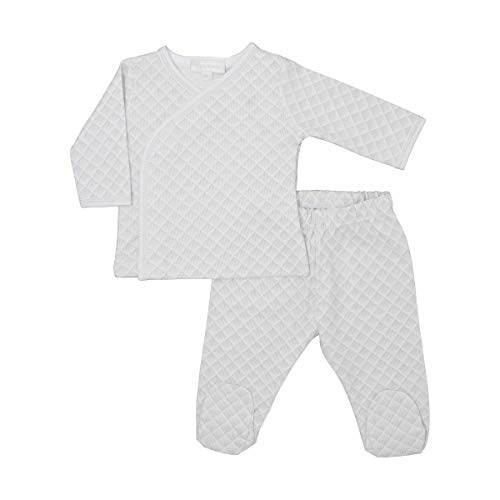 Magnolia Baby Unisex Baby Willa and Wyatt Printed X-Tee Footed Pant Set Silver 9 Months